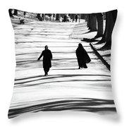 The D A Throw Pillow