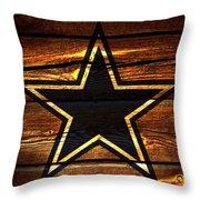 The Dallas Cowboys 3a Throw Pillow
