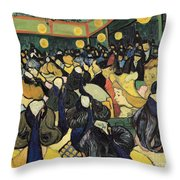 The Dance Hall At Arles Throw Pillow