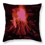 The Dance Of Fire Throw Pillow