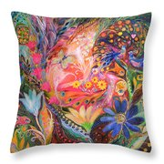 The Dance Of Flowers Throw Pillow by Elena Kotliarker