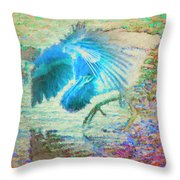 The Dance Of The Blue Heron Throw Pillow