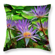 The Dance Of The Lillies Throw Pillow