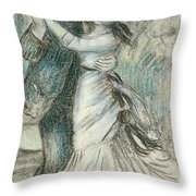 The Dance Throw Pillow by Pierre Auguste Renoir