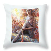 The Dancer In Ardent Throw Pillow