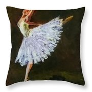 The Dancing Ballerina Throw Pillow