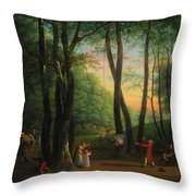 The Dancing Glade At Sorgenfri Throw Pillow