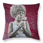 The Dandelion Throw Pillow by Chris Dutton