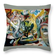 The Danger In Joy Throw Pillow
