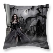 The Dark Caster Comes Throw Pillow