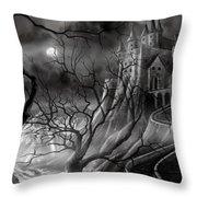 The Dark Castle Throw Pillow