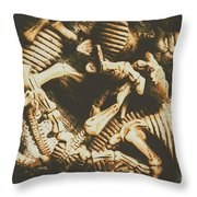The Dark Dinosaur Abstract Throw Pillow