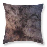 The Dark Horse And Snake Nebulae Throw Pillow