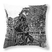 The Dark Knight II Throw Pillow