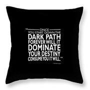The Dark Path Throw Pillow