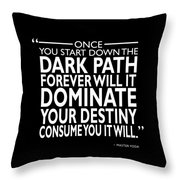 The Dark Path Throw Pillow