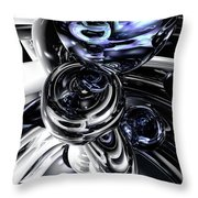 The Darkside Abstract Throw Pillow