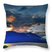 The Darkwoods And Kootenay Lake Throw Pillow