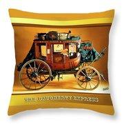 The Daugherty Express Throw Pillow