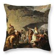 The Daughter Of Ariovistus Made Prisoner By Caesar During The Germans' Defeat Throw Pillow