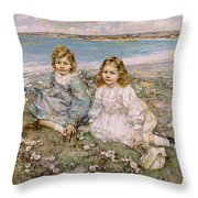 The Daughters Of Bertram Roberts Throw Pillow
