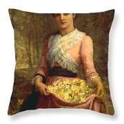 The Daughters Of Our Empire. England- The Primrose Throw Pillow