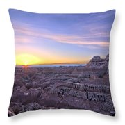 The Day Begins Throw Pillow