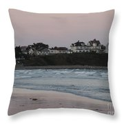 The Day Is Done At Long Sands Beach Throw Pillow