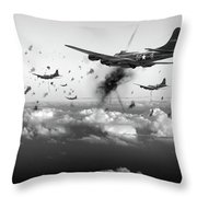 The Day Job Black And White Version Throw Pillow