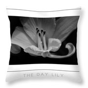 The Day Lily Poster Throw Pillow