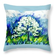 The Day Of Tree Throw Pillow