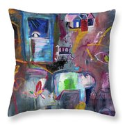 The Day Out Throw Pillow