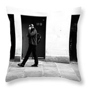 The Day Walk Throw Pillow
