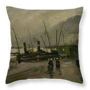 The De Ruijterkade In Amsterdam Amsterdam, October 1885 Vincent Van Gogh 1853  1890 Throw Pillow