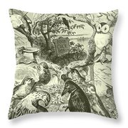 The Death And Burial Of Cock Robin Throw Pillow