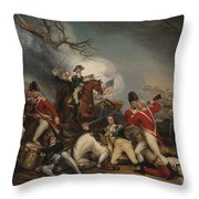 The Death Of General Mercer At The Battle Of Princeton, January 3, 1777  Throw Pillow