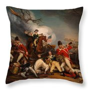 The Death Of General Mercer At The Bottle Of Princeton Throw Pillow