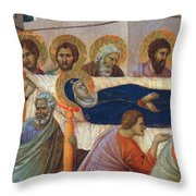 The Death Of Mary Fragment 1311 Throw Pillow