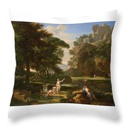 The Death Of Narcissus Throw Pillow