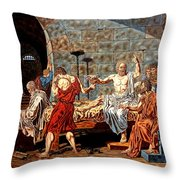 The Death Of Socrates Throw Pillow