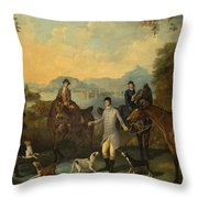 The Death Of The Hare Throw Pillow