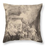 The Death Of The Virgin Throw Pillow