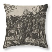 The Death Of Virginia Throw Pillow