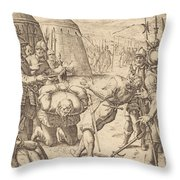 The Decapitated Throw Pillow