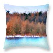 The Deep Forbidden Lake Throw Pillow