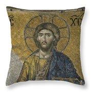 The Dees Mosaic In Hagia Sophia Throw Pillow