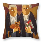 The Defendant Throw Pillow