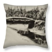 The Delaware Canal At Washingtons Crossing  Throw Pillow
