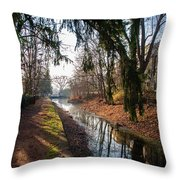 The Delaware Canal In New Hope Pa Throw Pillow