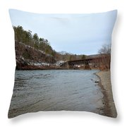 The Delaware River Throw Pillow